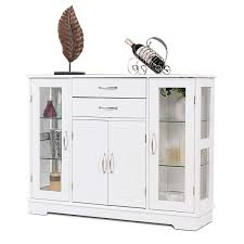 Amazoncom Accent Home White Country Sideboard Buffet Console