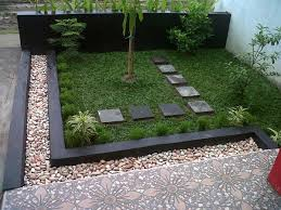 Small Picture Garden Beautiful Minimalist Garden Design On Small Space With