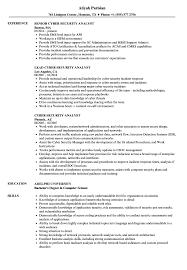 Cyber Security Analyst Resume Samples Velvet Jobs