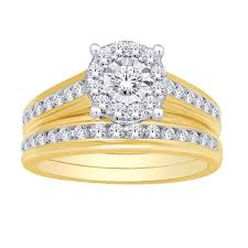 1 25 Tcw Diamond 3 Piece Bridal Set In 10k Yellow Gold Unclaimed