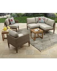 outdoor sectional. Simple Sectional Davenport 7Piece Woven Outdoor Sectional Set Box 2 Of With U