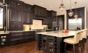 Distressed Kitchen Cabinets Picture Of Black Distressed Kitchen Cabinets Featuring Light