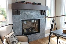 this portland street of dreams fireplace is tiled in platinum polished and gauged slate