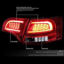 Audi A4 Back Lights 05 08 Audi B7 A4 S4 Avant Chrome Housing Red Lens 3d Led