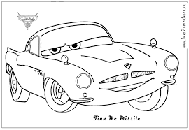 Coloriage Cars 2 Finn Mcmissile
