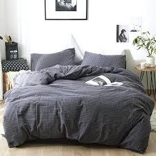 cuddl duds 6 piece gray plaid flannel comforter set 3 grey bedding washed cotton bed linen