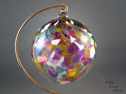 Glass Christmas Ornaments | Hand blown ornament by Kelly Lowe.