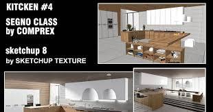 Sketchup Kitchen Design Adorable SKETCHUP TEXTURE FREE SKETCHUP 48D MODEL KITCHEN DESIGN