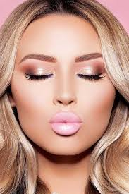 description charming rose gold makeup looks from
