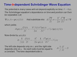 time independent schrödinger wave equation