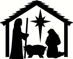 christmas stable. Plain Christmas Nativity Stable With People Vinyl Decal To Christmas