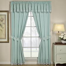 Decorations:Nice Glass Window In Small Size With Light Blue Curtains Clever  Window Curtain Ideas
