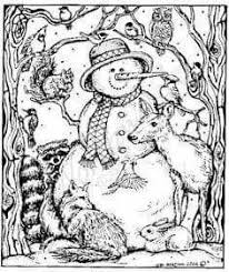 Small Picture Snowman Friends Adult Coloring Pages Pinterest Snowman