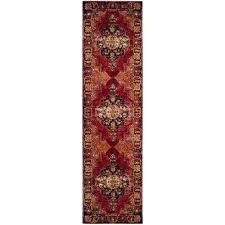 runner rug pad 2 x 12 area rugs the home depot red multi compressed