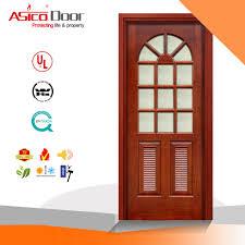 china timber door wooden door glass french door with vision panel china wooden door high quality wooden door