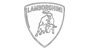 lamborghini logo black and white. Wonderful And How To Draw The Lamborghini Logo  In Black And White G
