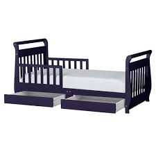 dream on me toddler sleigh bed with storage multiple finishes com