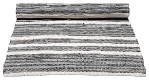 grey and white striped cotton floor rug scandinavian floor rugs by rug solid