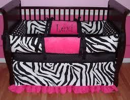 lexi zebra pink black and white girl baby bedding boy baby bedding crib sets custom girl baby bedding