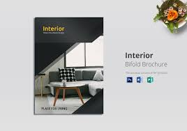 Design Brochure Template Bi Fold Interior Brochure Template
