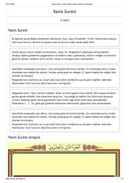 Yasin Suresi, Yasin Suresi Anlamı, Meali ve Okunuşu by Yasin Suresi - issuu