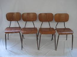 retro wood kitchen school dining chairs mid century modern