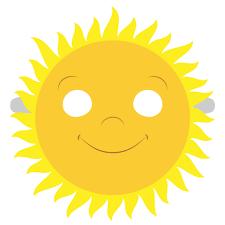 Sun Template Printable Sun Mask Template Free Printable Papercraft Templates