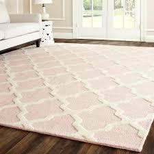 cambridge trellis rug 4 x 6 wool light pink
