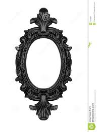 Black oval frame stock image Image of baroque revival 7625089