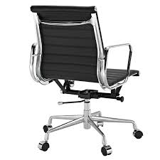 office chair genuine leather white. Eames Group Aluminium Chair #CF-035-Low Back Office Chair- Real Leather Executive Chiar Conference Chair-Black: Amazon.ca: Home \u0026 Kitchen Genuine White B