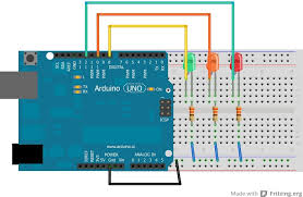 crash bang prototyping arduino tutorial chapter 3 2 traffic traffic light breadboard diagram