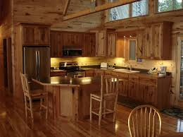 rustic wood kitchen cabinets perfect whihte painting dark ceramic floor tiled stainless tools great stone structure