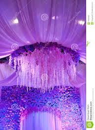 Background Decorations Design Wedding Flowers Background Design Stage Stock Image Image