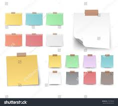 Colorful White Stickers Square Blank Colorful Stock Vector