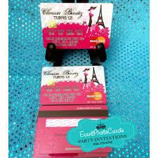 Credit Card Party Invitations Paris Credit Card Invitations Pink