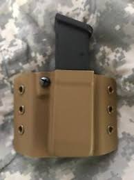 Kydex Magazine Holder Kydex Mag Magazine holder Fits Glock 100MM100 Cal Double Stacked 98