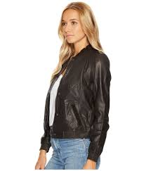 lucky brand women s clothing leather er jacket cropped jacket is fabricated from soft and supple lambskin