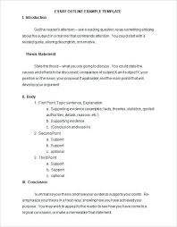 Sample Essay Outline Format Example Example Of Essay Outline Apa