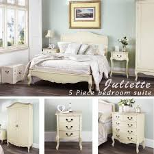 french bedroom furniture. Contemporary French Juliette Shabby Chic Champagne King Bed 5pc Bedroom Suite Cream 5ft Bed  Bedside Table Throughout French Bedroom Furniture I