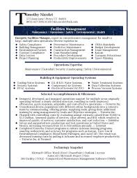 Executive Resume Templates Word Extraordinary Resume For Facility Manager] 48 Images Link To An Facilities
