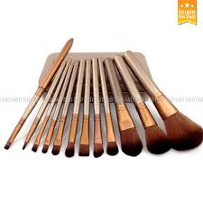 d d 12 pcs professional make up brushes set gold