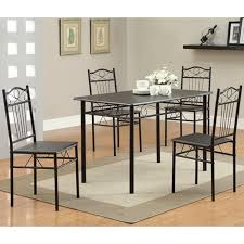 black metal dining table and chair set  stealasofa furniture