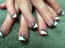 Nail Designs : Hand Painted Acrylic Nail Designs Getting Easy Hand ...