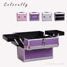 4 Colors Aluminum Fashion Makeup Box Beauty Box with Inner Tray Makeup  Train Case Large capacity nail makeup storage box-in Cosmetic Bags & Cases  from ...