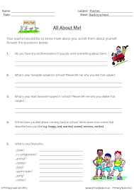 All About Me Worksheet For Adults Worksheets for all   Download ...