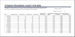 Workout Progress Charts Fitness And Weight Loss Chart Templates Word Excel Templates