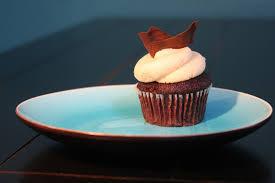 chocolade cupcake met vanillecrème