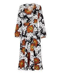 Iska London Size Chart Iska London White Mustard Floral Maxi Dress