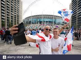 England-Fans vor dem Finale der UEFA Euro 2020 im Wembley Stadium, London.  Bilddatum: Sonntag, 11. Juli 2021 Stockfotografie - Alamy