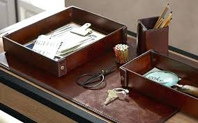 office accessories for desk image of leather home funky uk